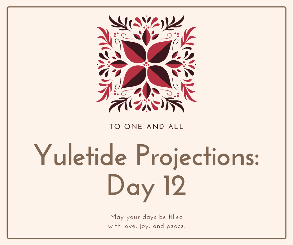 Yuletide projections and thanks. Merry Christmas