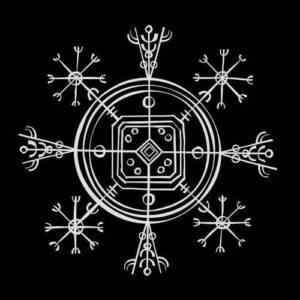 Winter solstice Yule symbol