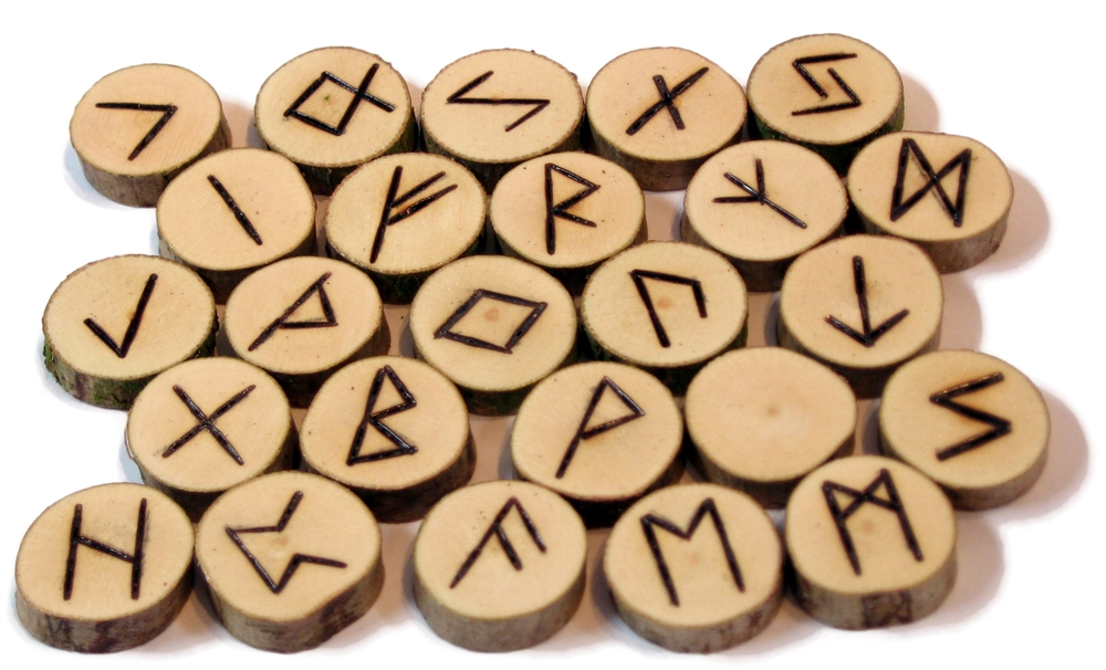 runes from wood