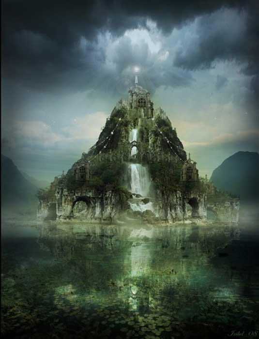 Celtic isle of Avalon