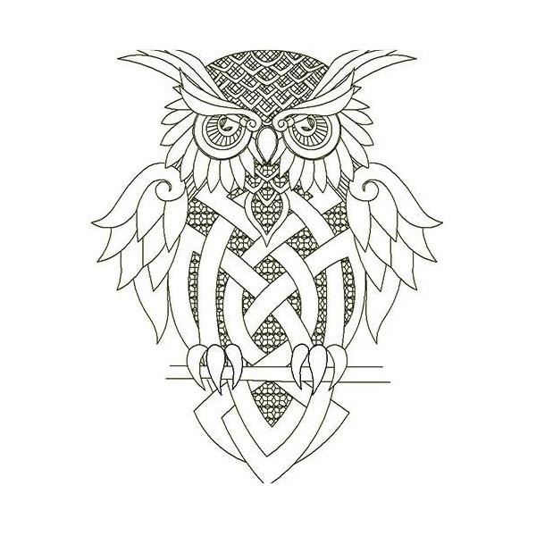 Owl celtic ill omen