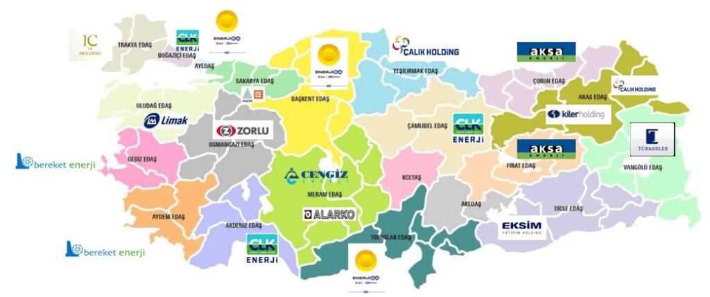 Elektrik dağıtım bölgeleri
