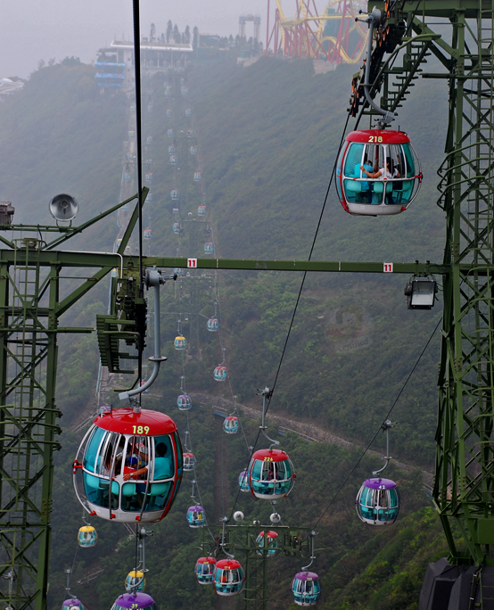 cable cars, ocean park