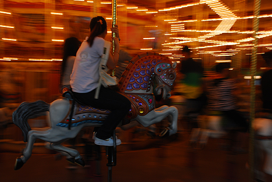 Lady in a carousel