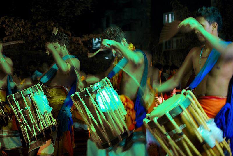 Drummers in full swing