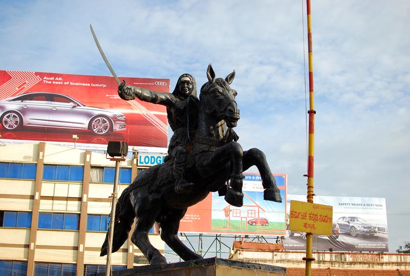 Rani Channamma Statue at Hubli.