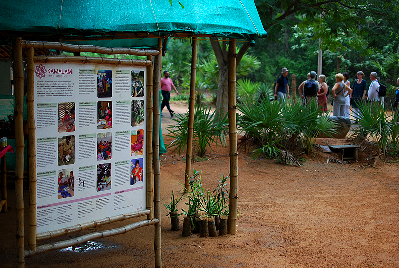 Near the coffee shop in Auroville