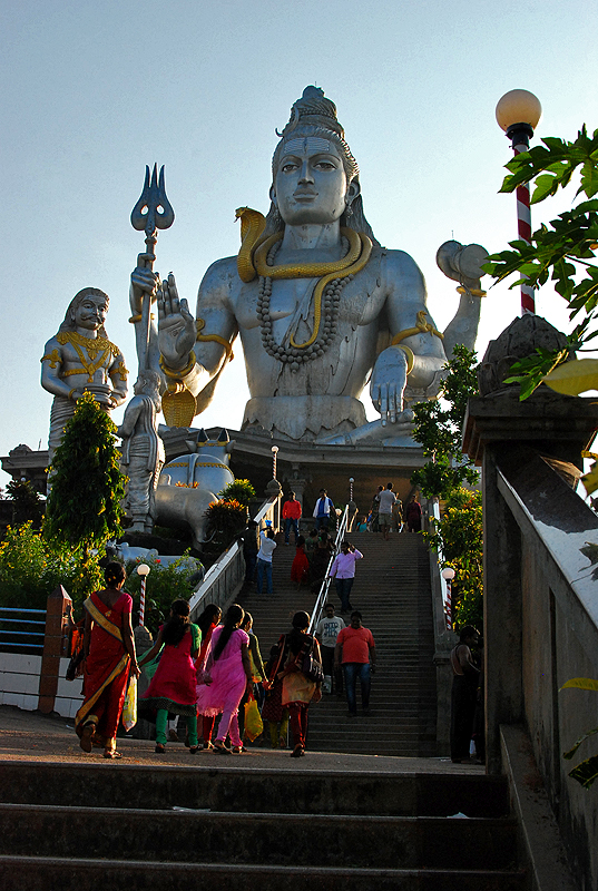 Stairs to the giant Lord Shiva statue
