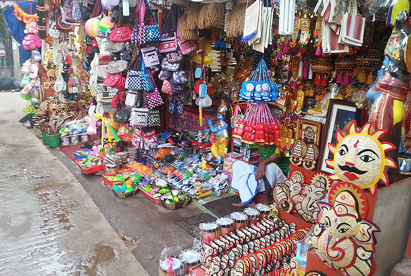Shopping at Kollur