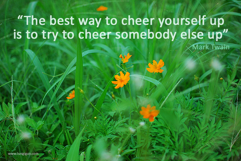 The best way to cheer yourself up …
