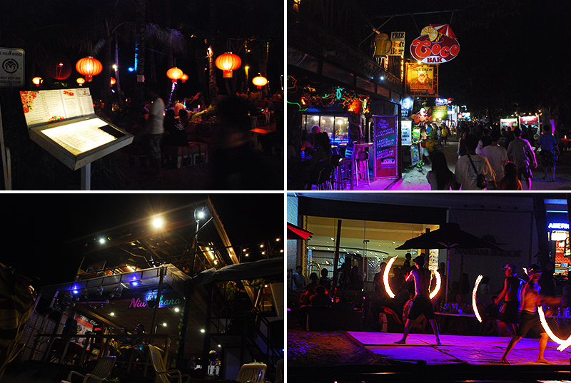 Amazing night life and dinner options at Boracay