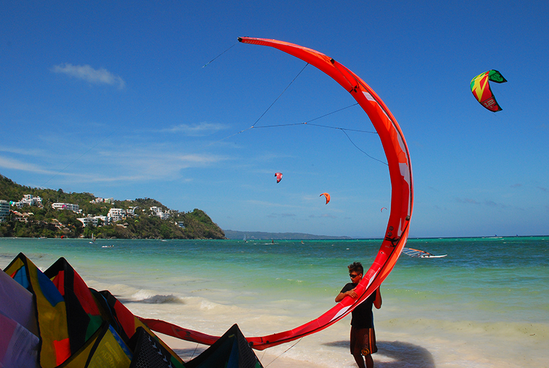 kite boarding at Bulabog beach