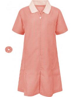 Girls Red Gingham Summer Dress