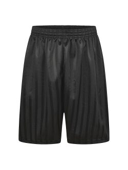 Black Shadow Stripe P.E Shorts