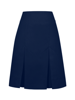Navy Two Pleat Skirt (Adjustable waist)