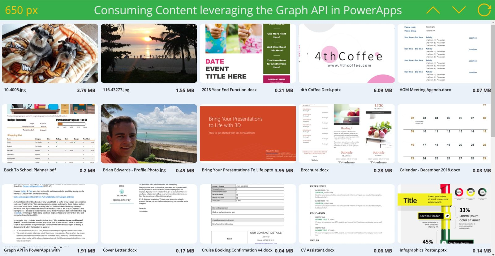Leveraging Graph APIs in PowerApps & Flow – PDFs