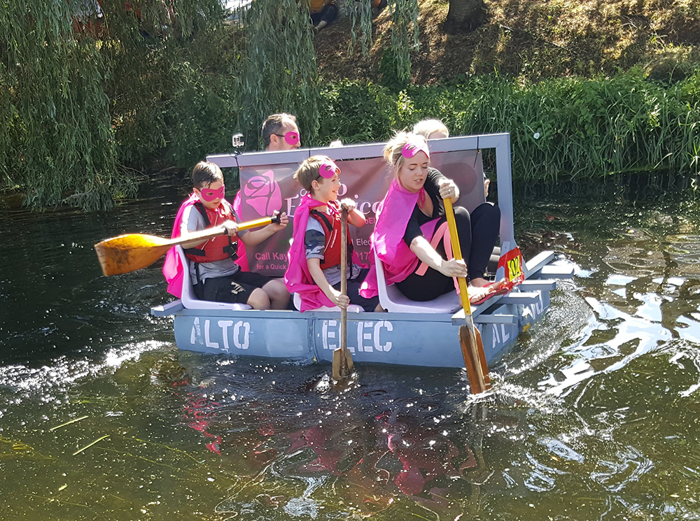 Electricians at the Deeping Raft Race