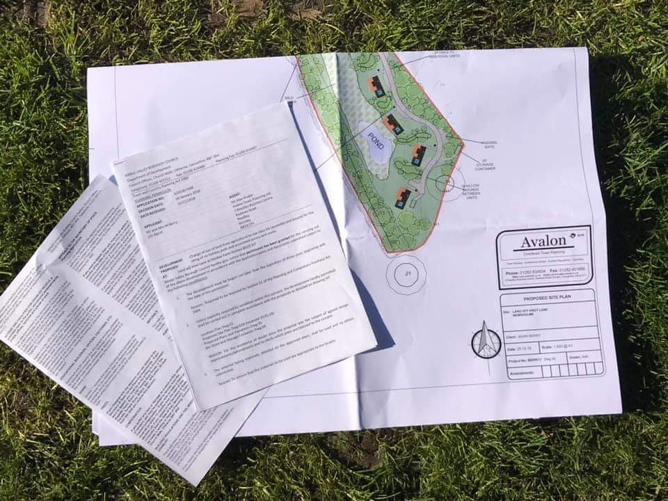 Planning the glamping site
