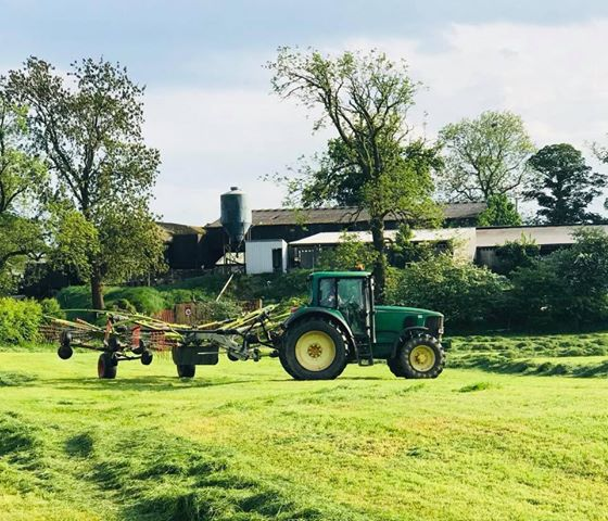 Mowing on the farm