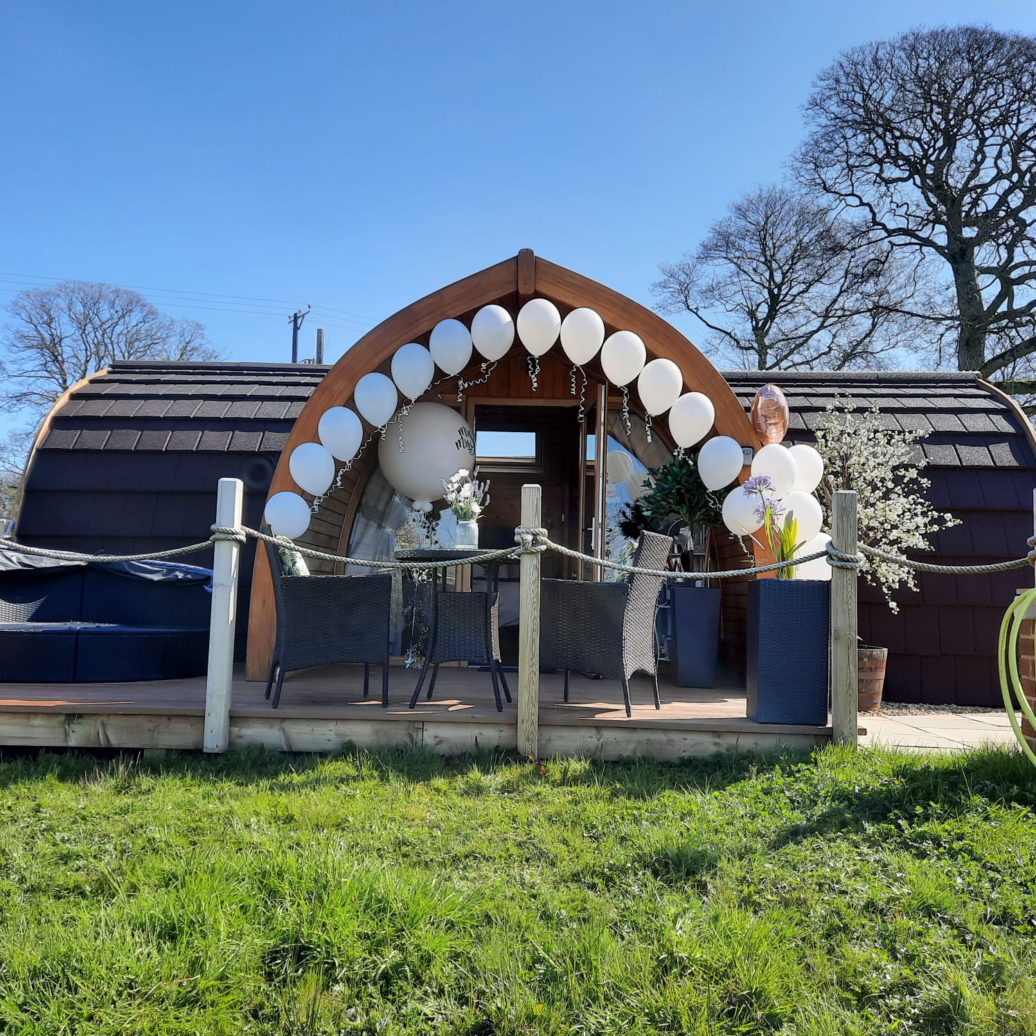 celebrate a honeymoon at hedgerow glamping with hot tubs