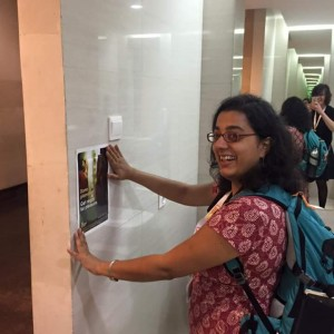 Arushi adds some points of interest to the women's loo