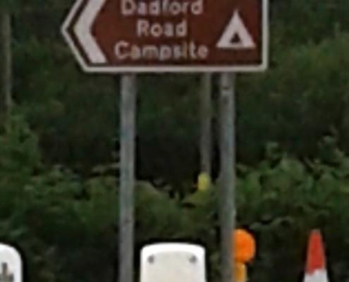 Tourist Sign near the circuit