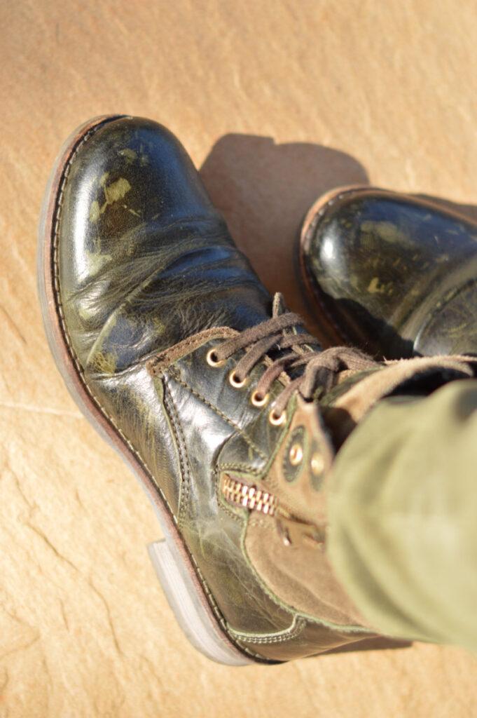 khaki boots