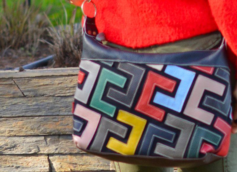 colourful handbag