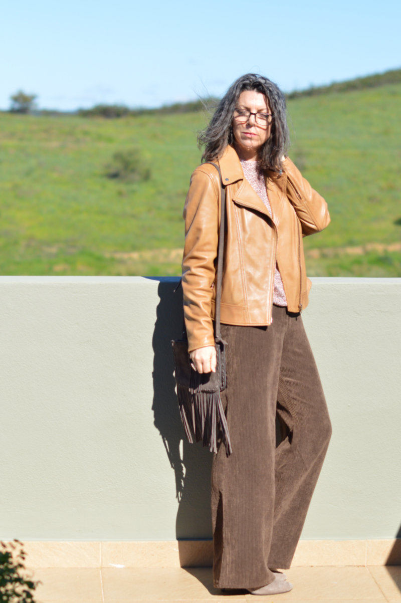Leather, sequins and cords