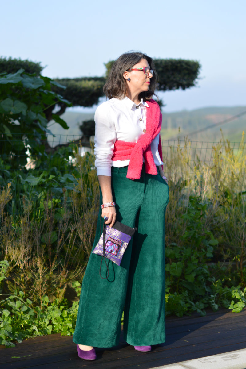 style steal in pink and green