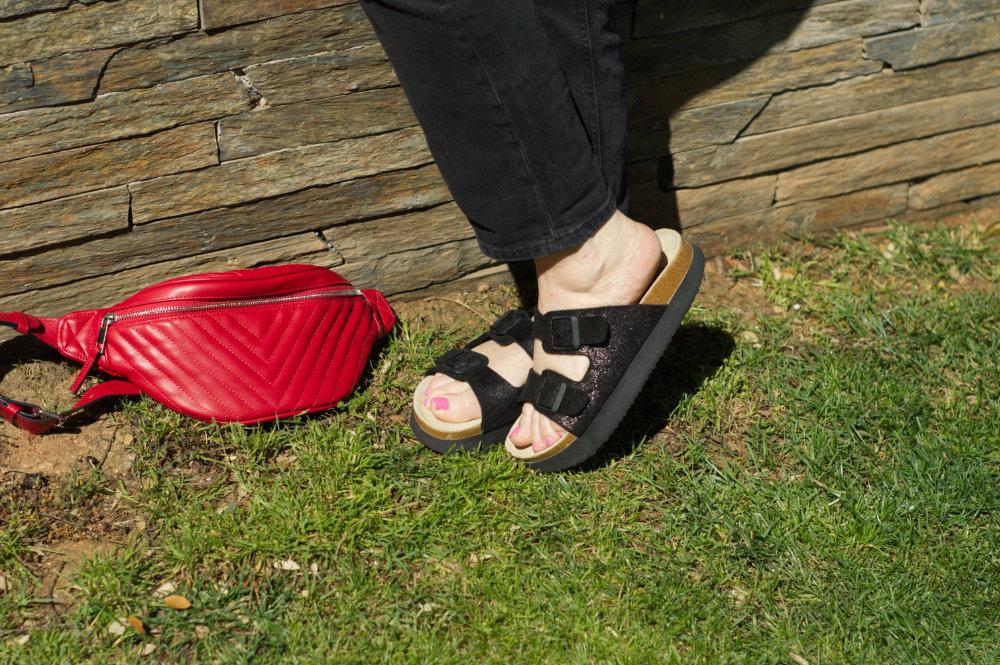 black sandals LIDL