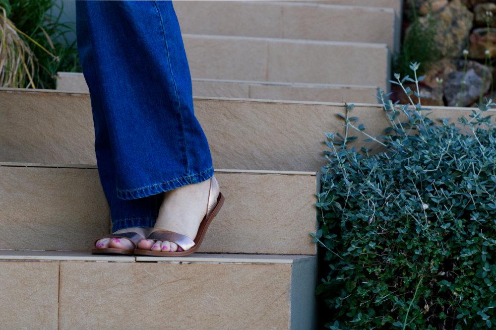 Rose gold Aldo sandals