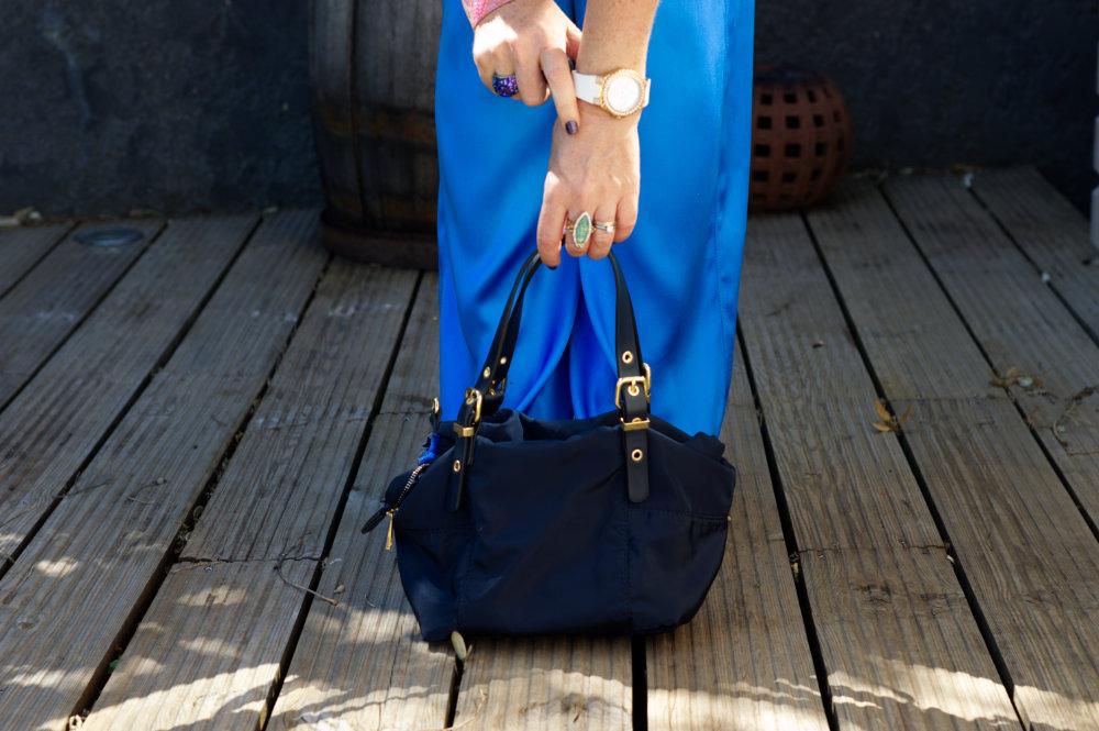 Blue Zara handbag