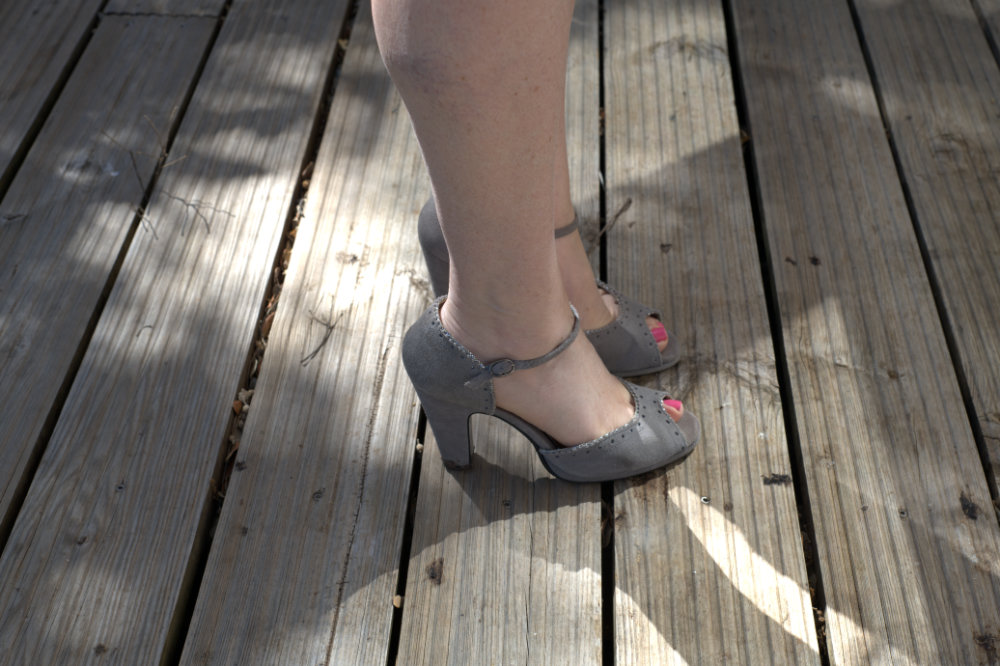 Pink vintage style shoes