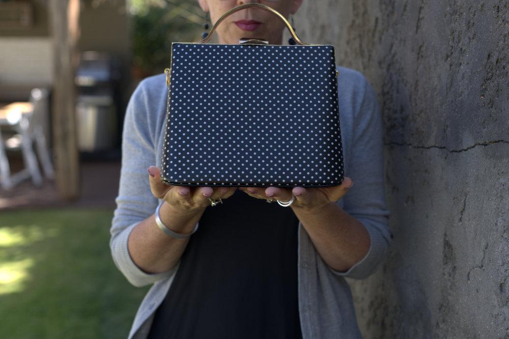 polka dots handbag