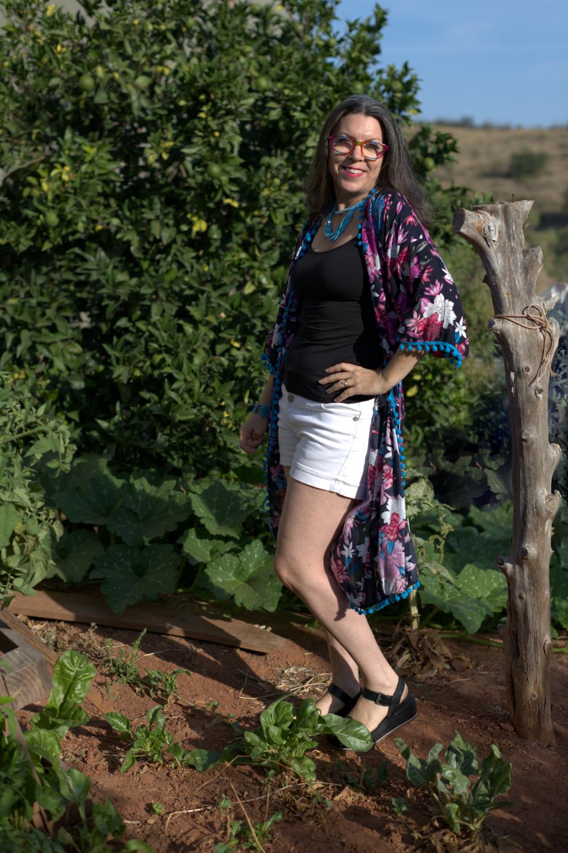 kimono with shorts