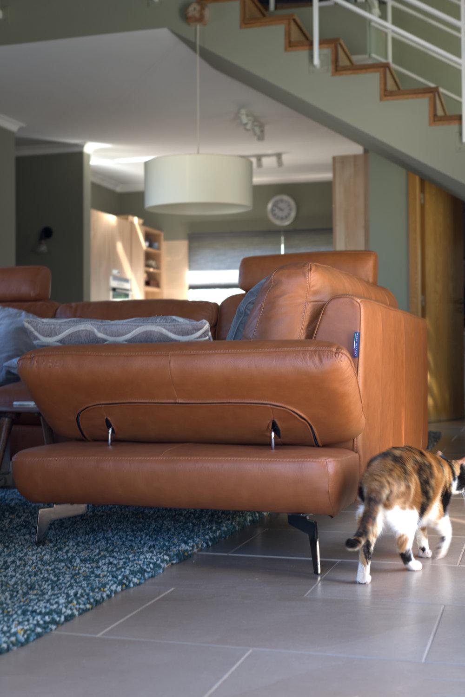 new leather sofa