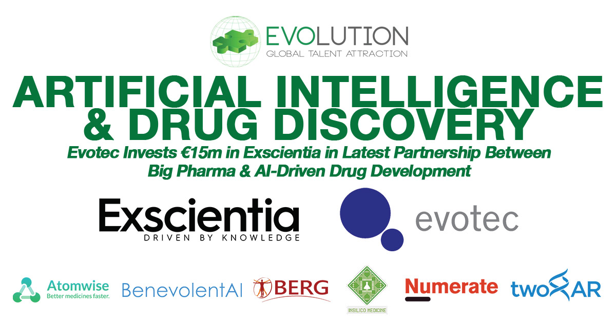 Evotec Invests €15m in Exscientia in Latest Partnership between Big Pharma & Artificial Intelligence-Driven Drug Discovery