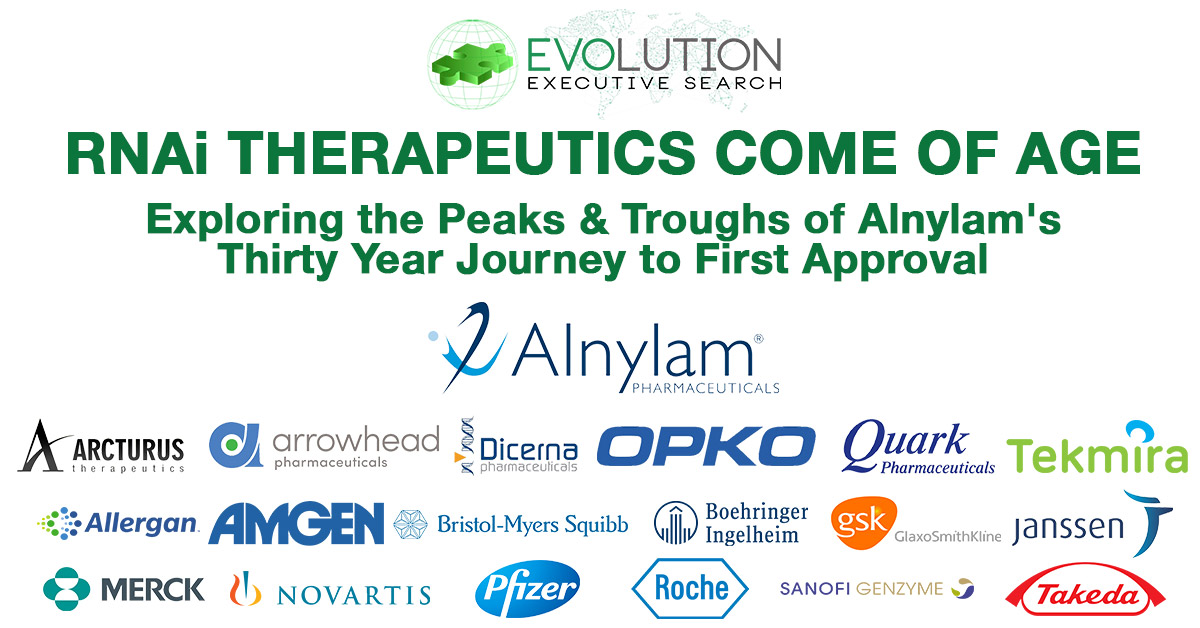RNAi Therapeutics Come of Age: Exploring the Peaks & Troughs of Alnylam's Thirty Year Journey to First Approval