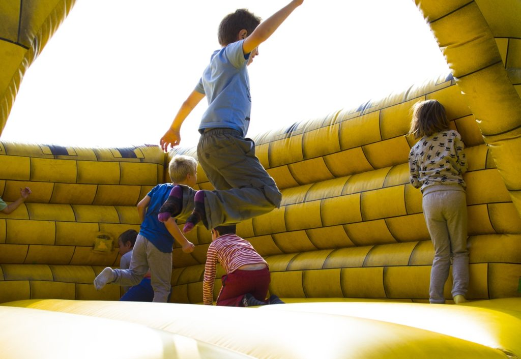 A bouncy castle representing bouncing back, which is evidence of resilience in the world of work