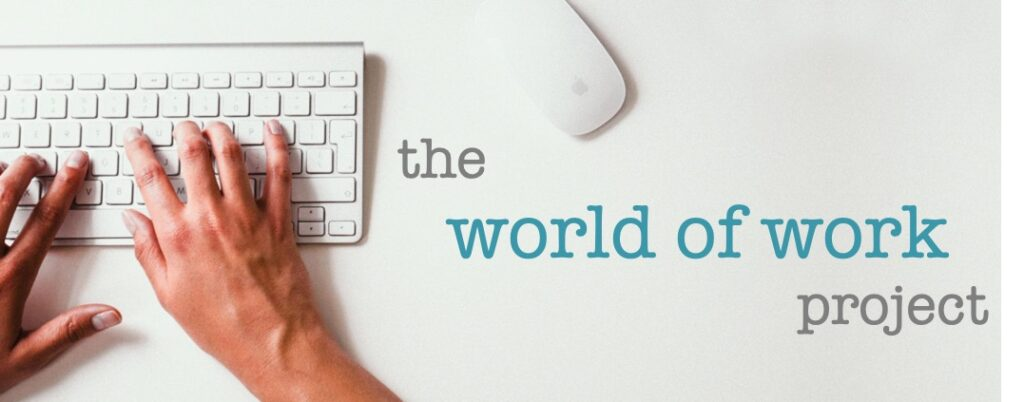 The World of Work Project logo (for the world of work project)