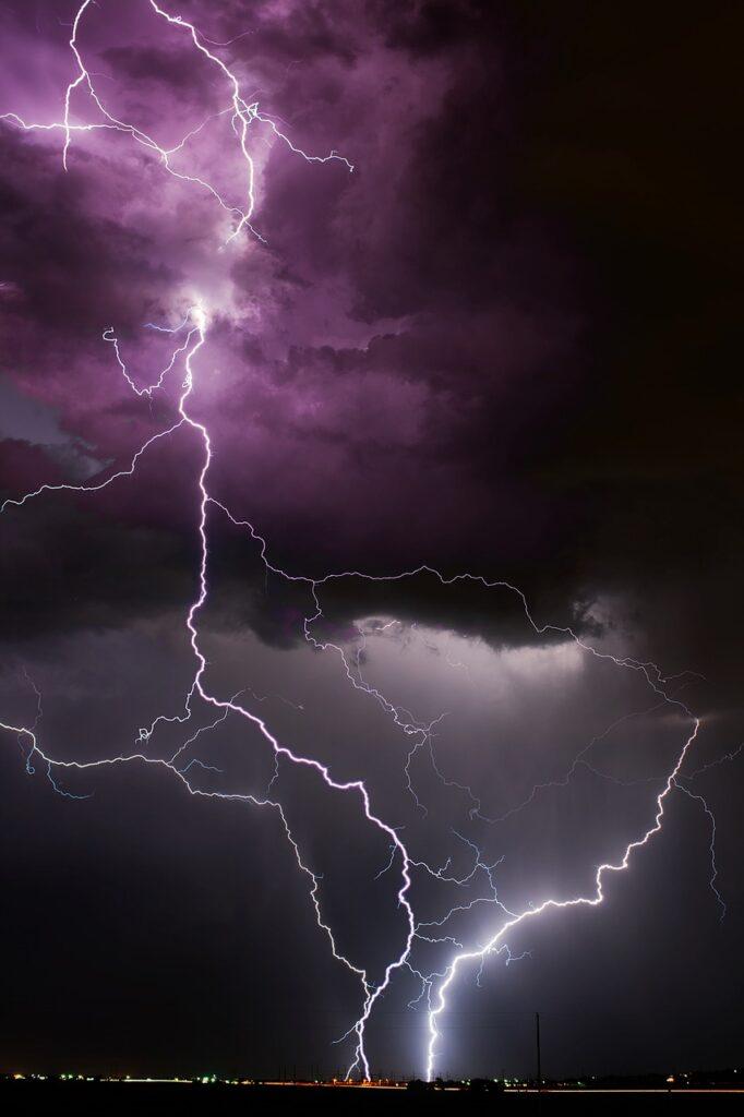 A lightning strike representing Lightning Talks