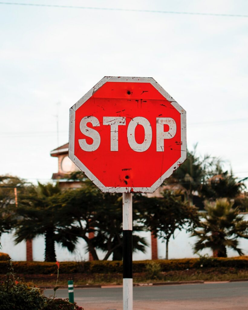 A stop sign, representing stopping things through Bureaucracy Busters