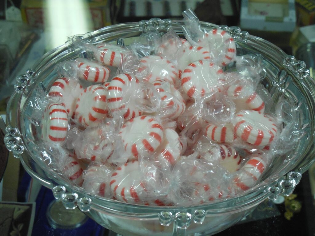 Mints - they are used for reciprocity, one of Cialdini's 6 Principles of Persuasion