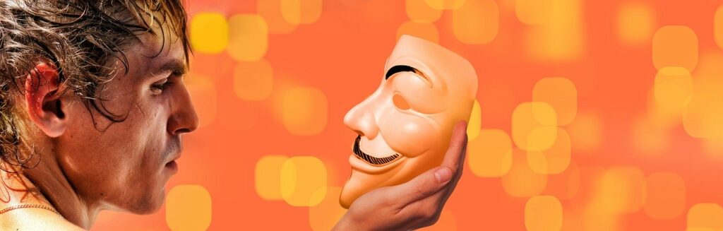 We often wear masks instead of showing our vulnerability in the workplace