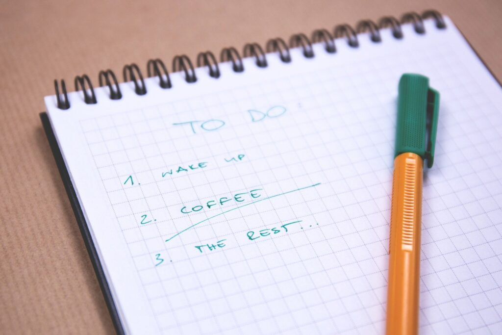 A to-do list is part of time-blocking
