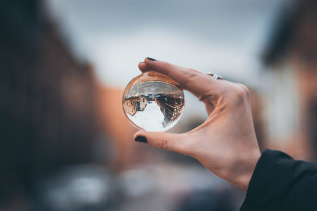 A crystal ball. The last of the 6 levels of listening suggests finding a new perspective.