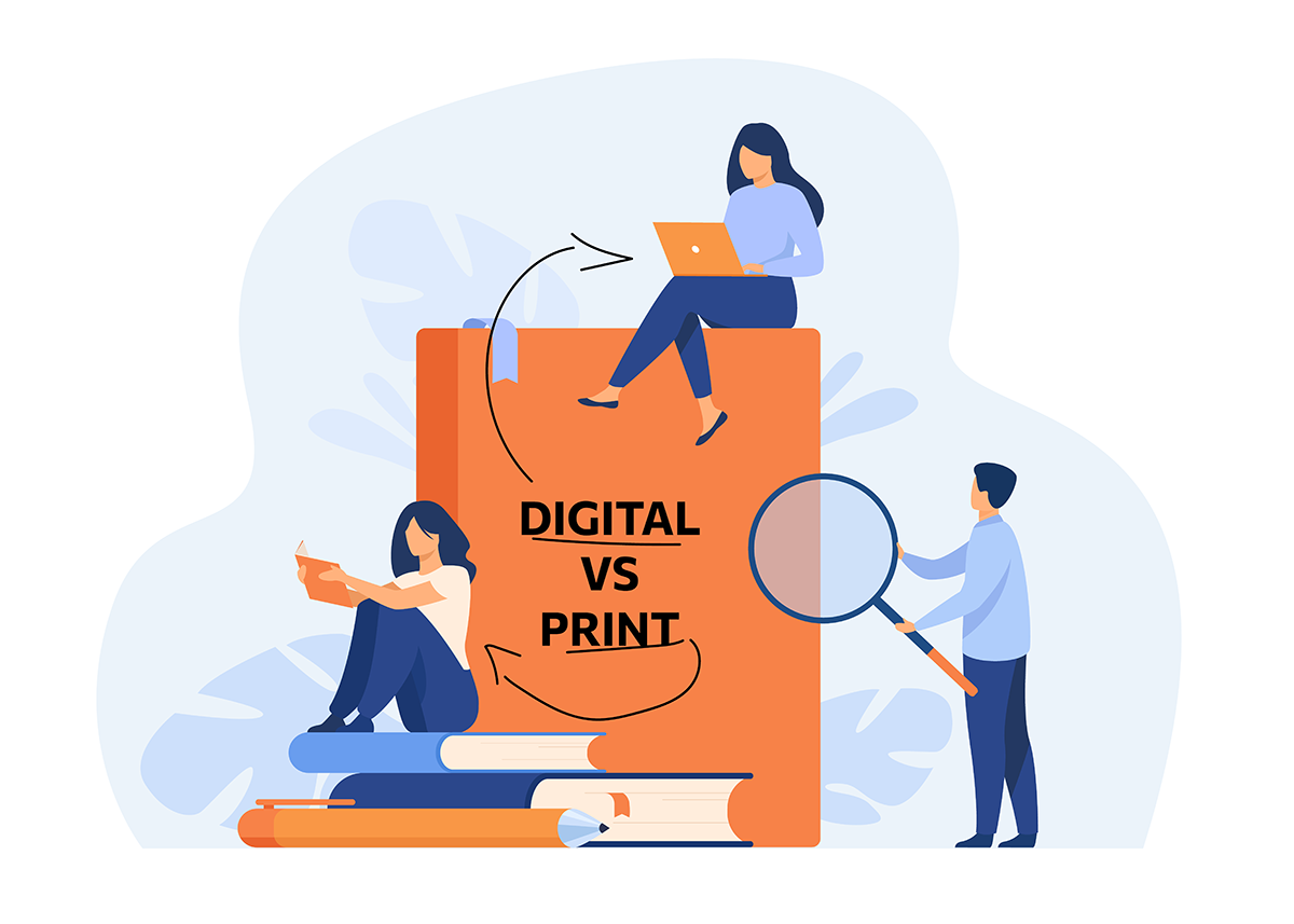 Digitale folder versus papieren folder