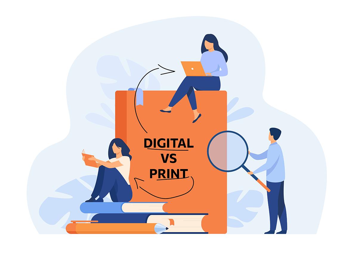 Digital brochure versus paper brochure