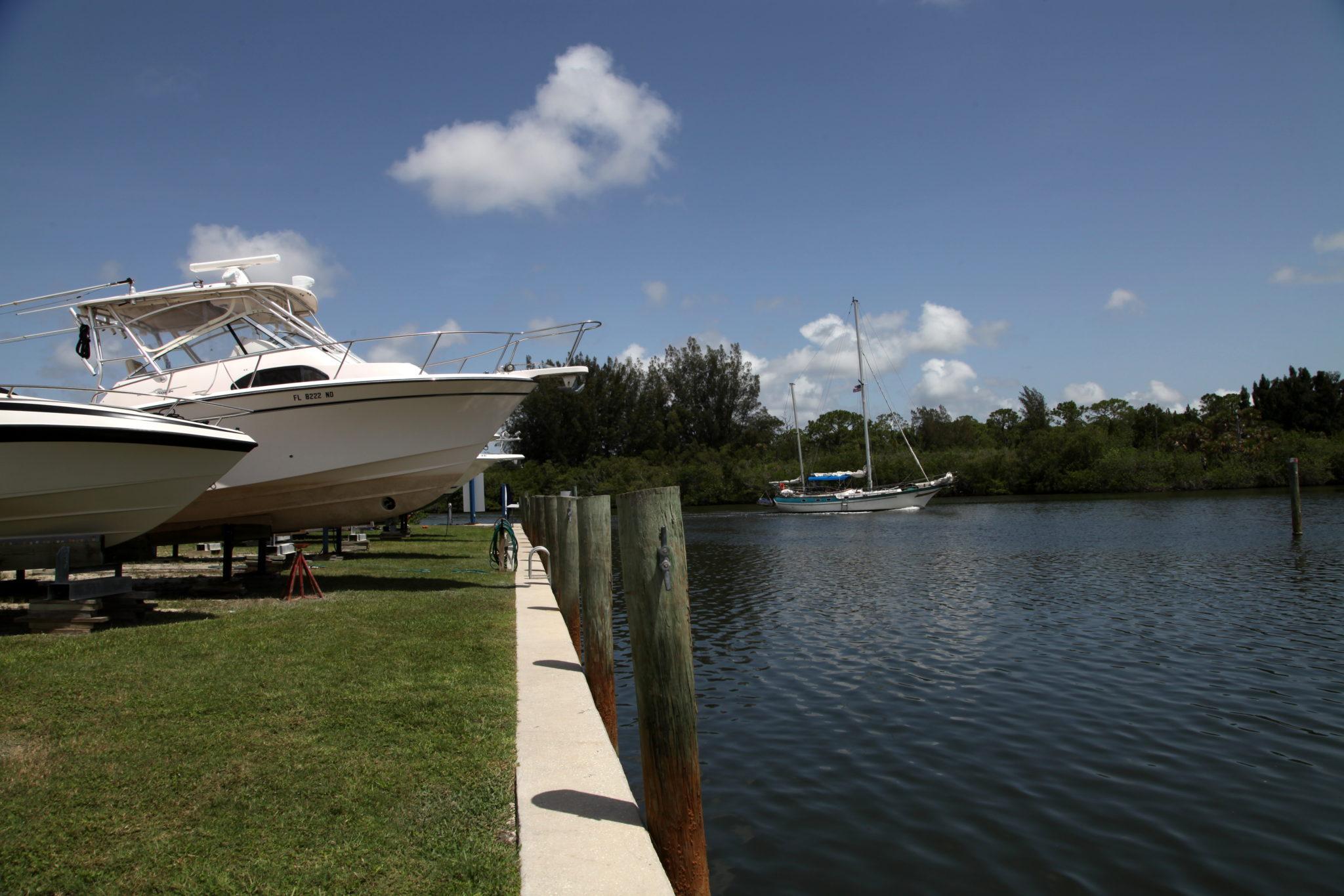Sailing to Harbortown Marina Merritt Island, Port Canaveral, FL